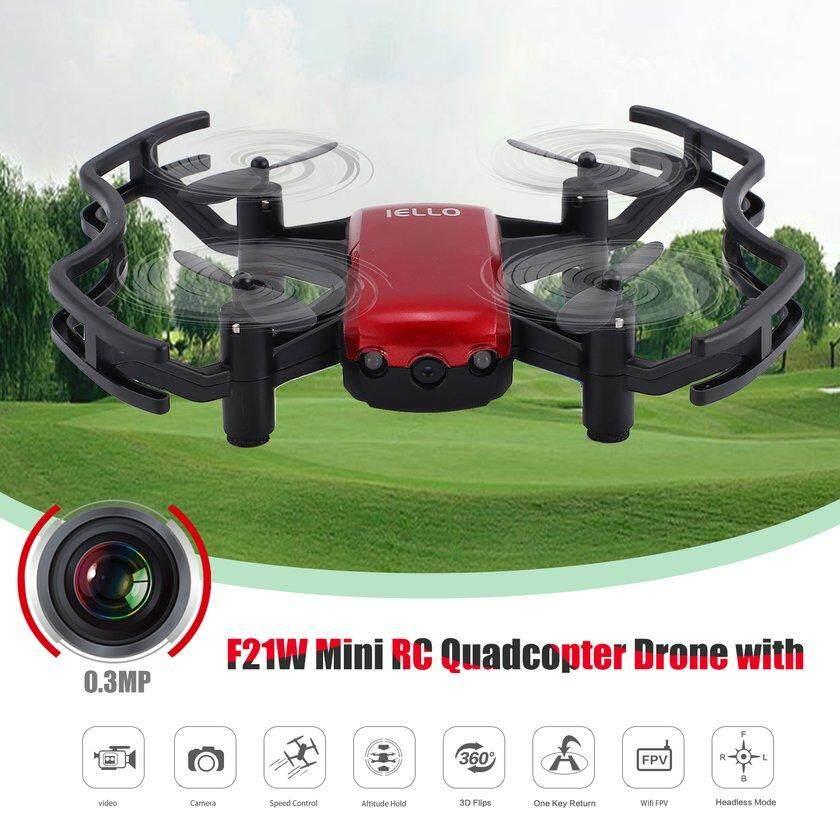 F21W Mini RC Qua * dcopter bicara dengan 0.3MP Mode tanpa kepala kamera ketinggian tahan