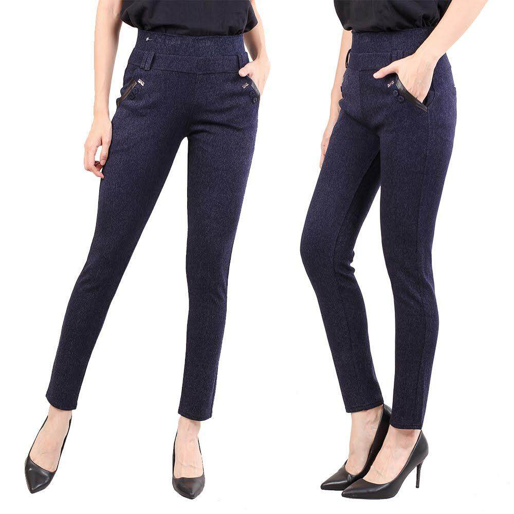 KM Women Self Pattern Elastic Trouser [M11057]