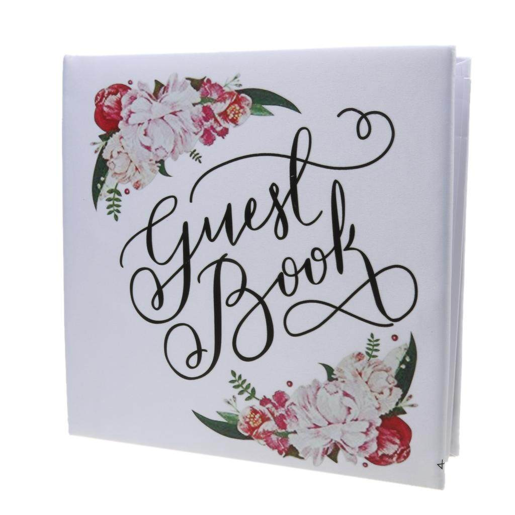 BolehDeals Wedding Ceremony Colorful Flower Guest Book Engagement Party Reception Favor - intl