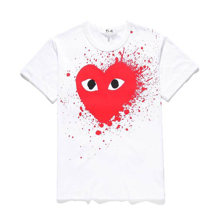 61942ce7 COMME des Garcons CDG Play Pure Cotton Short-sleeved Heart T-Shirt Cool  Style