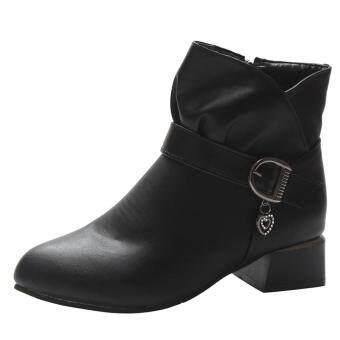 Beli sekarang Auburyshop Hak Persegi Wanita Gesper Tali Kulit Ritsleting  Sepatu Bot Martin Sepatu Boot Mata Kaki terbaik murah - Hanya Rp230.871 150d3bf36a