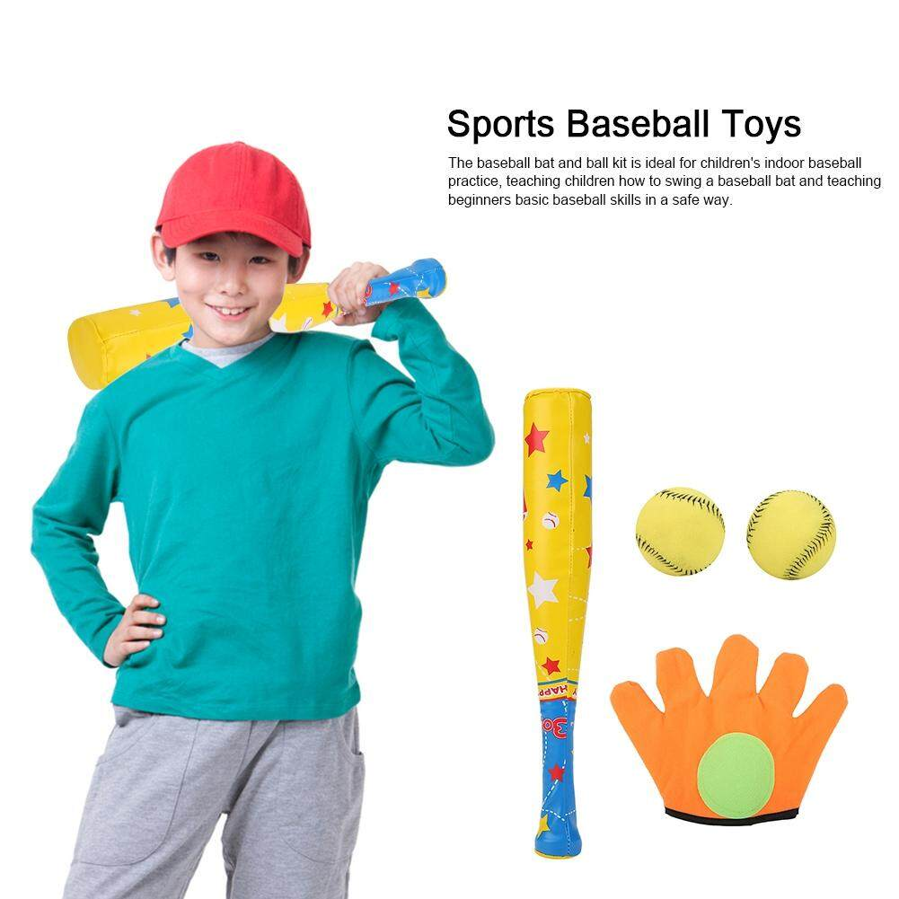 4pcs Sports Baseball Toys Soft Baseball Bat Ball Glove Set For Kids Children Gifts By Wondershop A.