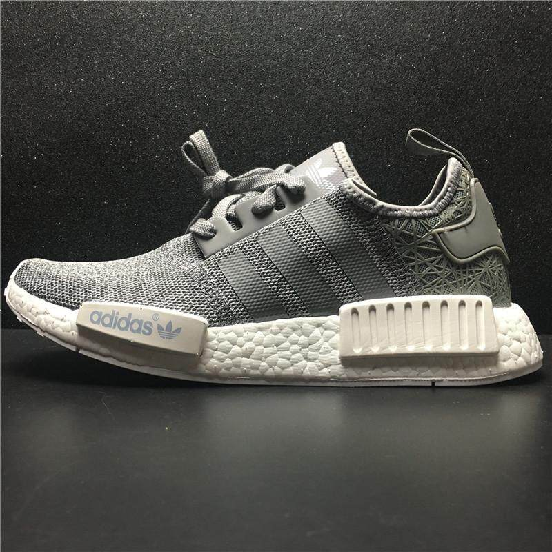 183303334 2018 Adidas NMD R1 Boost S769077 Men and Women Running Shoes (Grey White) -