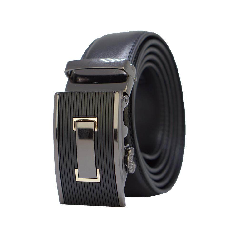 [100% CALF LEATHER] Premium Quality Best Seller MB046 Business Men Leather Belt [BLACK/READY STOCK] - Adjustable Strap for Size S , M , L , XL