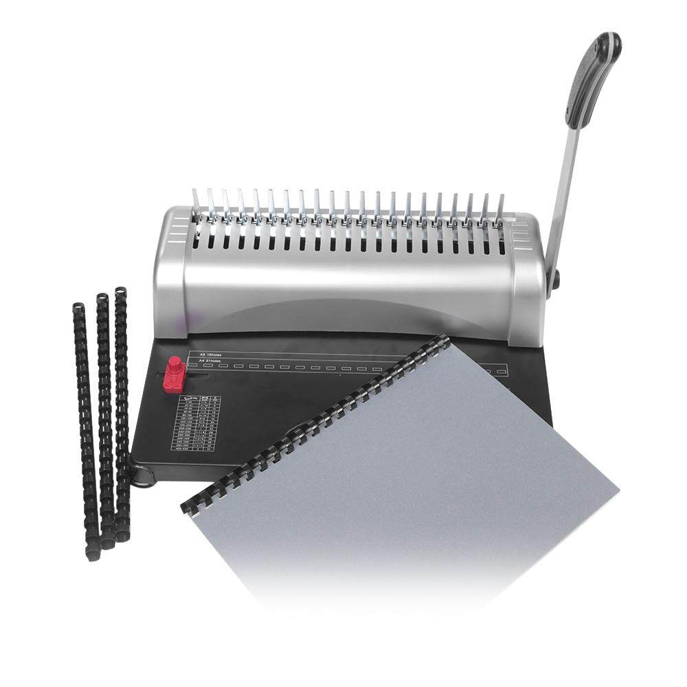 A4 Paper Puncher Binder 21 Holes Binding Machine 12 Sheets Punching 450 Sheets Binding Office Home Tools - intl