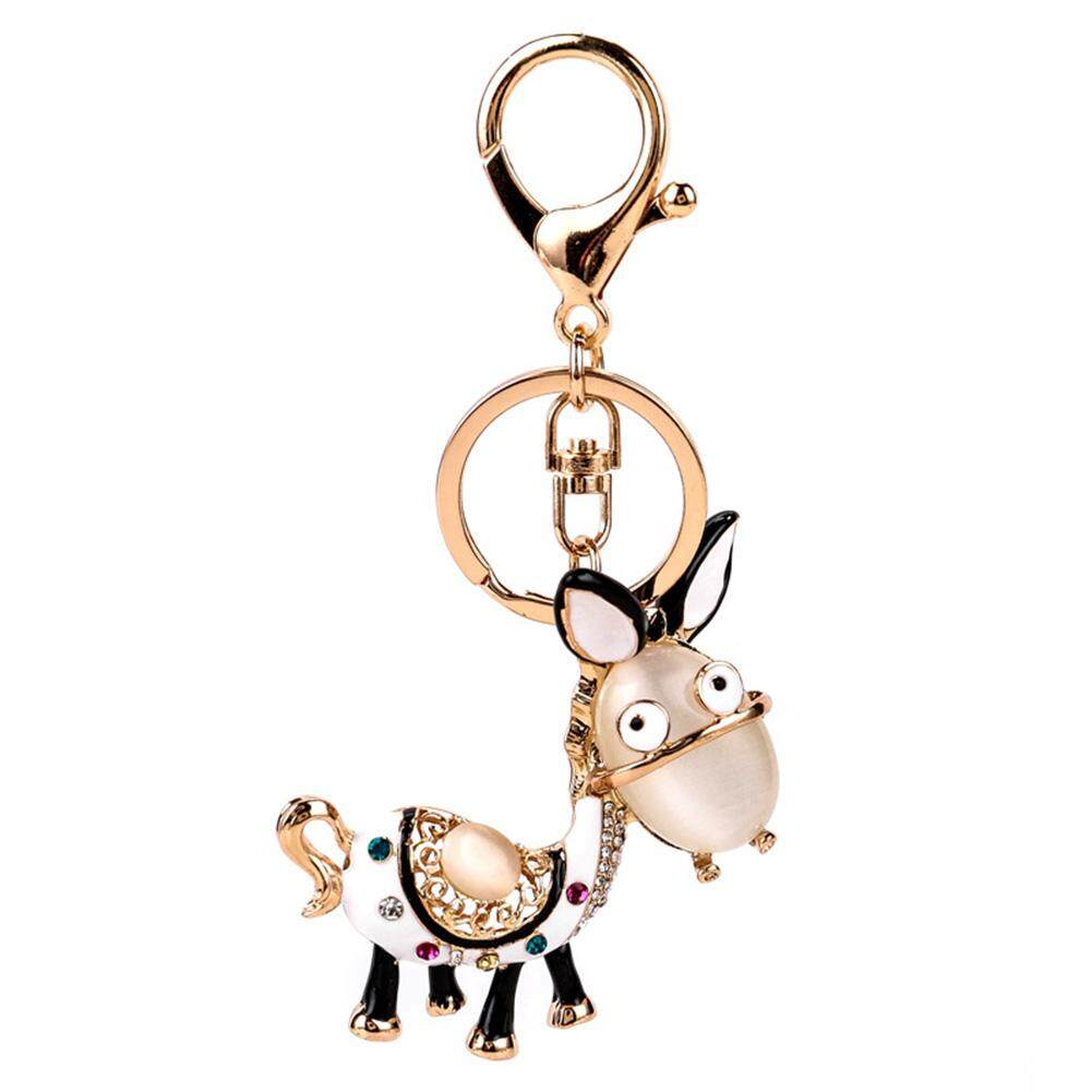 Wanita Lucu Keledai Liontin Gantungan Kunci Gantungan Kunci Kunci Fob Kunci Penahan Trinket Chains Mobil Kunci Lingkaran Gantungan Kunci Tas dekorasi Spesifikasi: 11.3 Cm * 5.6 Cm-Internasional