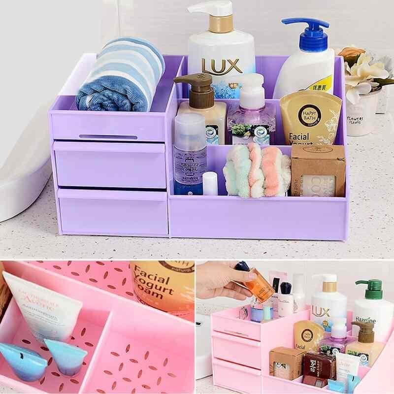 Vigo WANITA Wadah Makeup Penyimpanan Organizer Kotak Laci Kosmetik Pemegang Parfum Perhiasan-Intl