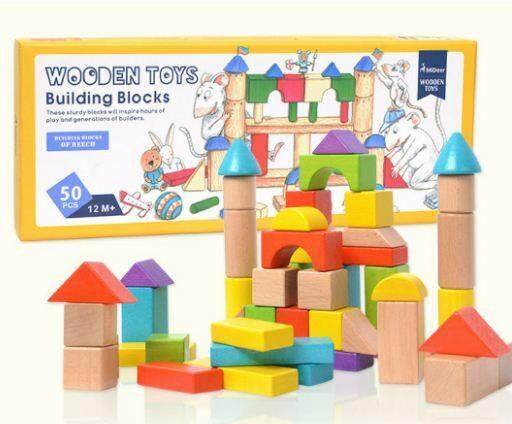 MiDeer Wooden Toys Building Blocks Toys for boys