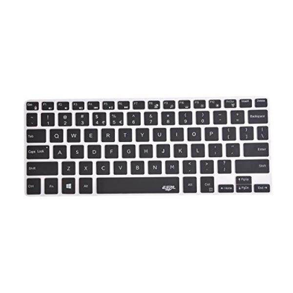 Leze - Silicone Keyboard Cover Protector for Dell XPS 13-9343 9350 9360 9365 13.3-Inch Ultrabook Laptop Semi - Black