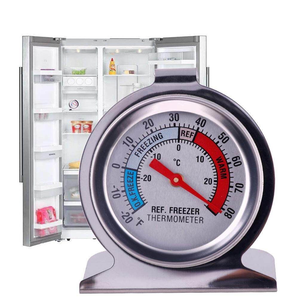 Refrigerator Freezer Thermometer Fridge Dial Type Stainless Steel Hang Stand By Hittime.