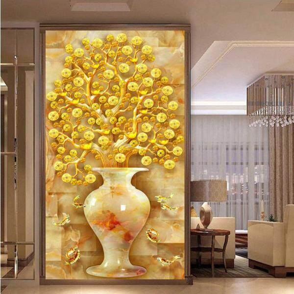 5D Diamond Painting, Money Tree Screen Decoration, Brick and Stone Draw Diamond Cross Stitch, 50*90cm - intl