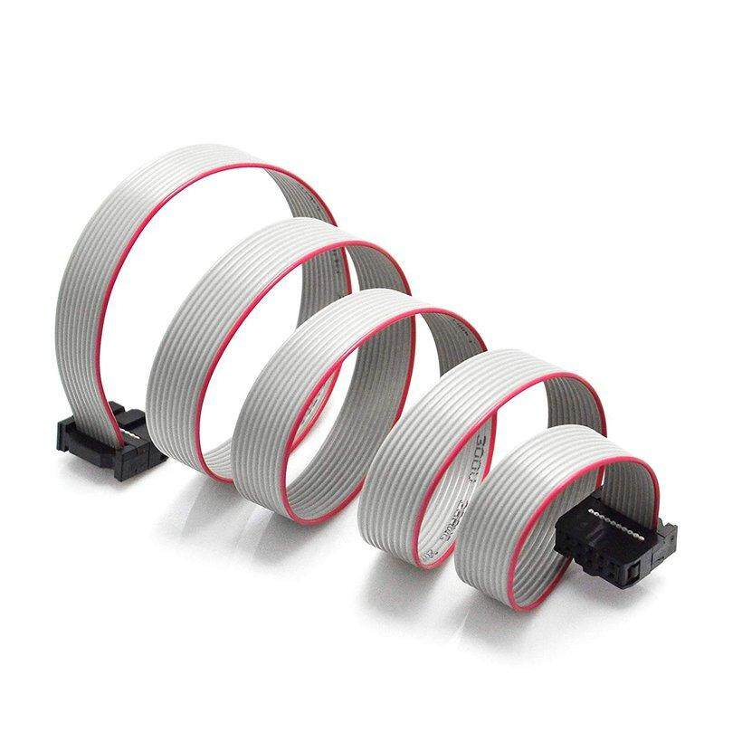 Kaka FC-10P 10 Pin JTAG Download Kabel Konektor Kabel Abu-abu Pita Datar Kabel Data