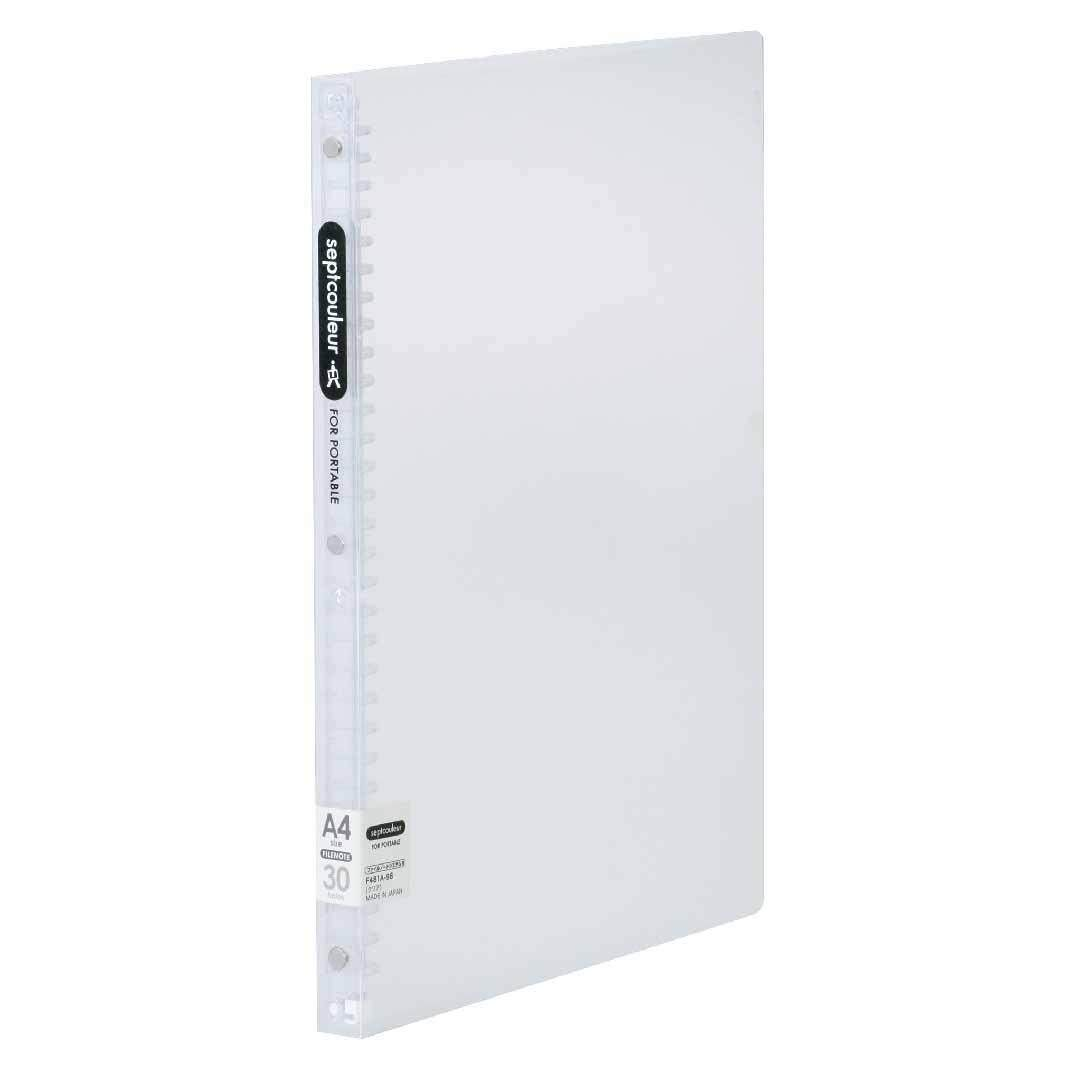 SEPT COULEUR A4, 30 Holes, 60 Sheets, 18 Spine Width - White