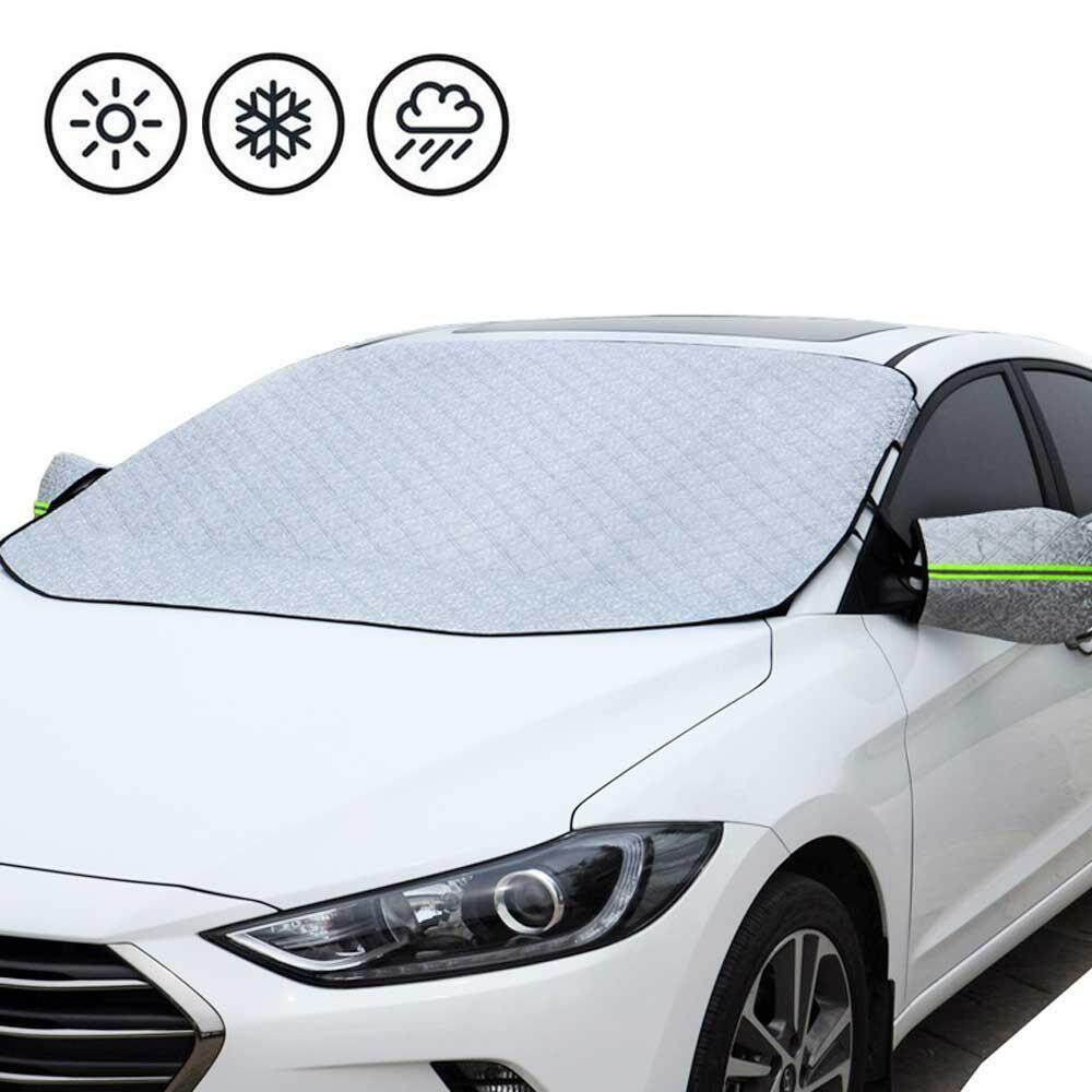 Aolvo Windshield Sun Shade Cover, Car Cover With Mirror Covers, Windshield Cover Protector, Fits 99.99% Cars, Trucks And Suvs 147*187*1cm By Aolvo.
