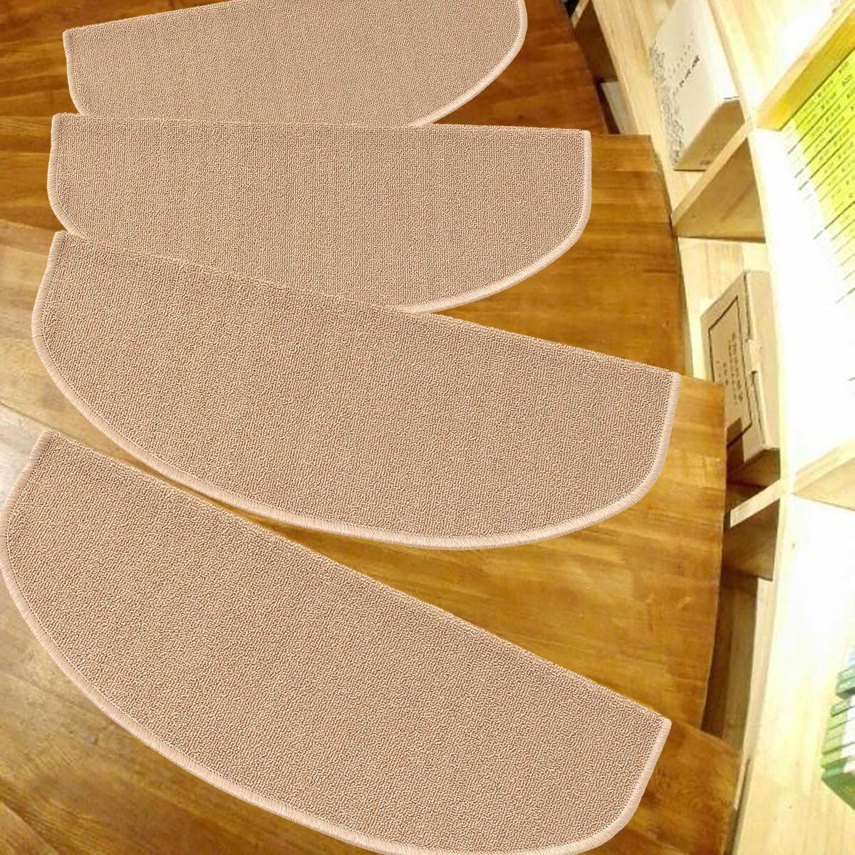 Set 1 ~ 7 Tangga Tapak Karpet Karet Dukungan Tikar Non-slip Tangga Lantai Karpet