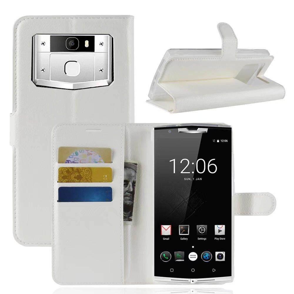 RJ Kulit Lipat Penutup Ponsel Case Dompet Kartu Penahan untuk Oukitel K10000 Pro-Internasional