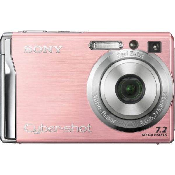 Sony Cybershot DSCW80 7.2MP Digital Camera with 3x Optical Zoom and Super Steady Shot (Pink) (OLD MODEL)