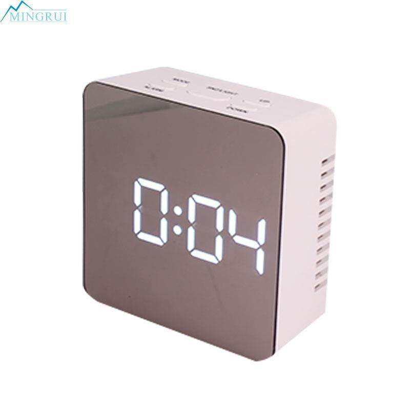 Mingrui Store Plastic White Digital Alarm Clock Alarm Clock Digital Wall Clock