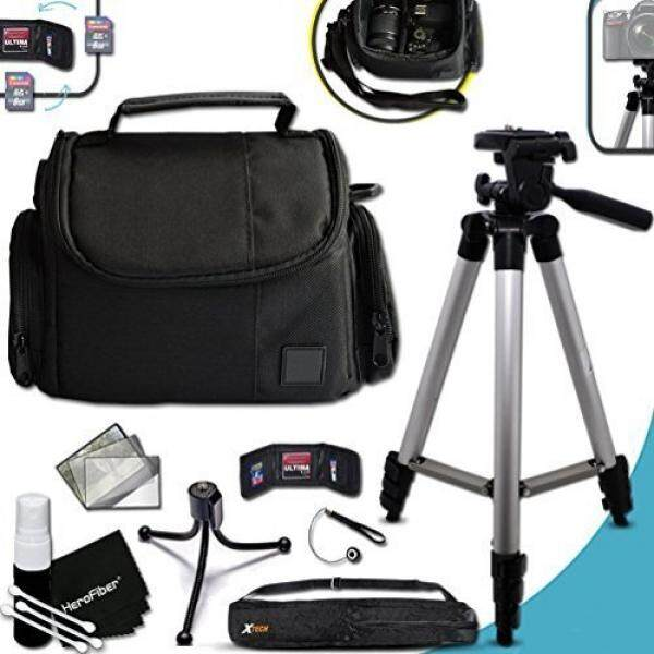 "Premium Well Padded Camera CASE / BAG and Full Size 60"" inch TRIPOD Accessories KIT for Nikon Coolpix P900 P610, P600, P530, P340, L840, L830, L820, L810, L330, L320, L620, L610, P7800, P7700, P4, P3, AW130, AW120, AW110, AW100, S810c, S9900, S7000,"