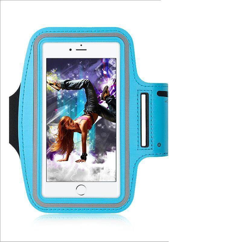 Waterproof Sport Running Arm Band Case(Light Blue 5.5 Inch)