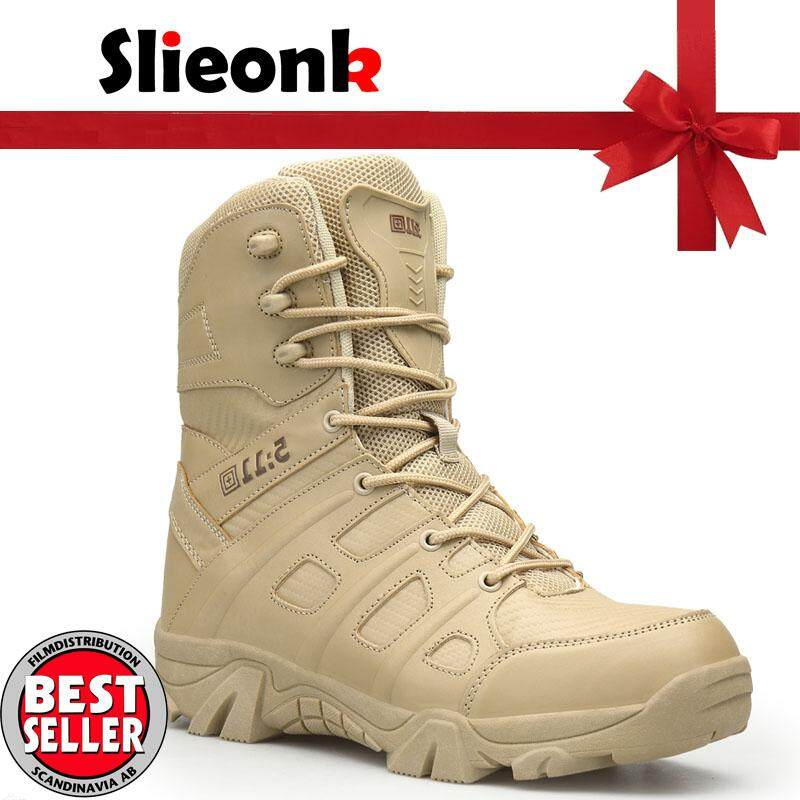 72bf34b211fa Slieonk Plus Size 39-47 Men Desert Tactical Military Boots Men s Shoes SWAT Army  Boot