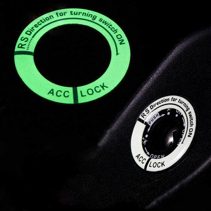 3 Pcs Universal Stiker Bercahaya Baru Led Luminous Mobil Kunci Kontak Dekorasi Cincin Stiker (hitam) By Aukey Store.