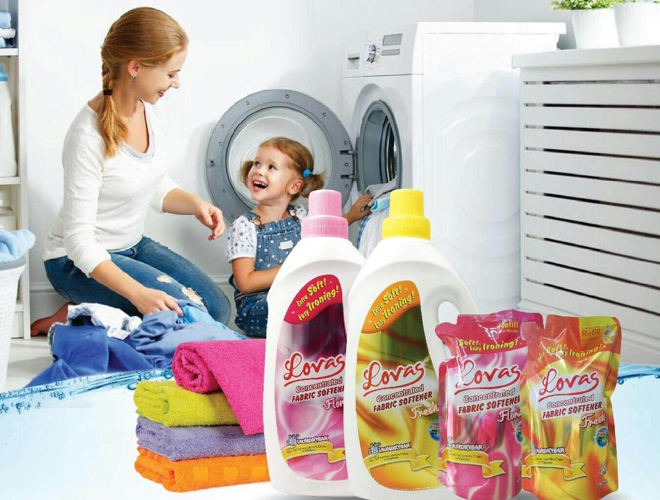 LOVAS Concentrated Fabric Softener - 2L [Floral] with Extra Soft