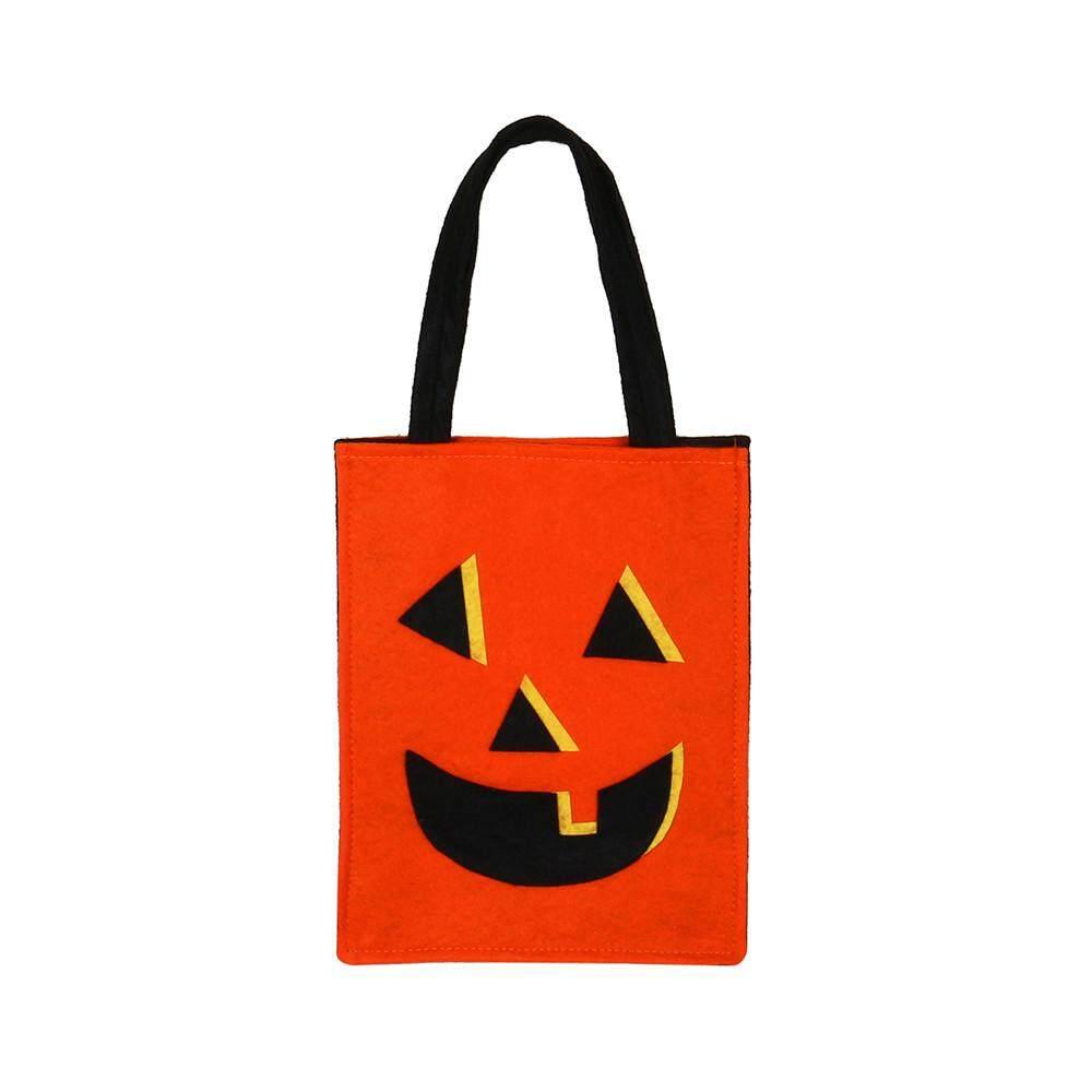 Fantnesty Halloween Tas Kelelawar Iblis Tas Anak-anak Tas Tangan Permen Ember Anak-anak