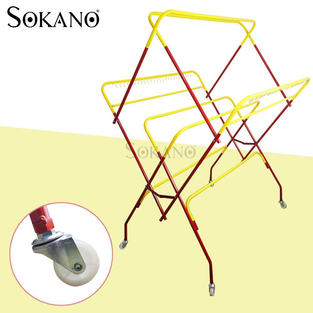 SOKANO W323 Portable Cloth Drying Rack with Wheels