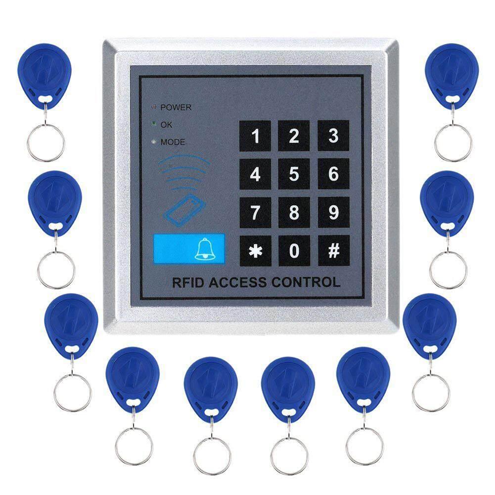 Khóa cửa Vân Tay + Thẻ 10x Phím Fobs Truy Cập Hệ Thống Điều Khiển Kỹ Thuật Số Mã RFID