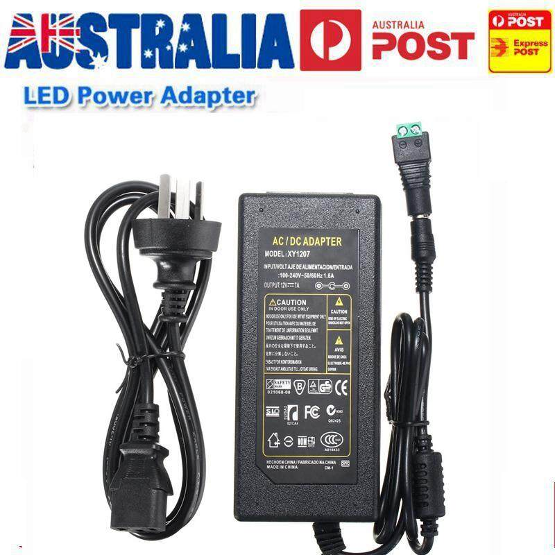 【BUY MORE SAVE MORE】12V 7A 84W AC To DC Adapter Power Supply For 5050 Flexible LED Light Strip 3528 -(UK Plug With Optional Adapter)