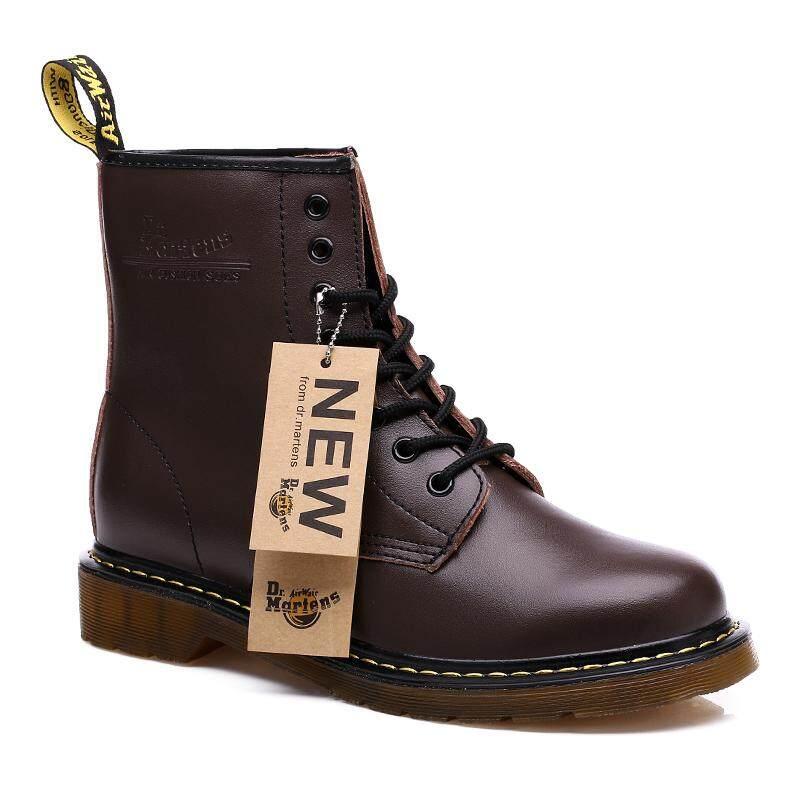 Harga gaya inggris pasangan sepatu bot martin kasual pria kulit sepatu kulit asli tren remaja sepatu