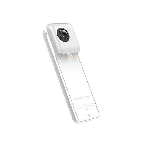 Insta360 Nano 360 Degree Camera VR 3D Panoramic Point and Shoot Digital Video Cameras 3K HD Dual Wide Angle Fisheye Lens for iPhone 7, 7 Plus and all iPhone 6 series, ive on Facebook- Pearl White - intl