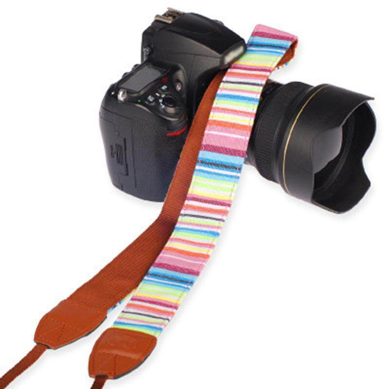 YBC Universal Camera Strap Vintage Striped Anti-slip Belt For DSLR Canon Nikon Sony