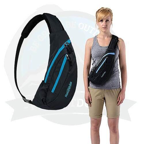 [ LOCAL DELIVERY ] NATUREHIKE Male Sling Bag Crossbody And Shoulder Bag Sling Bag-Black
