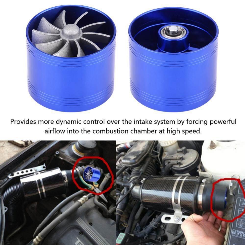 64mm Car Air Intake Gas Fuel Saver Turbo Turbonator Single Fan Turbine Super Charger - Intl By 1buycart.