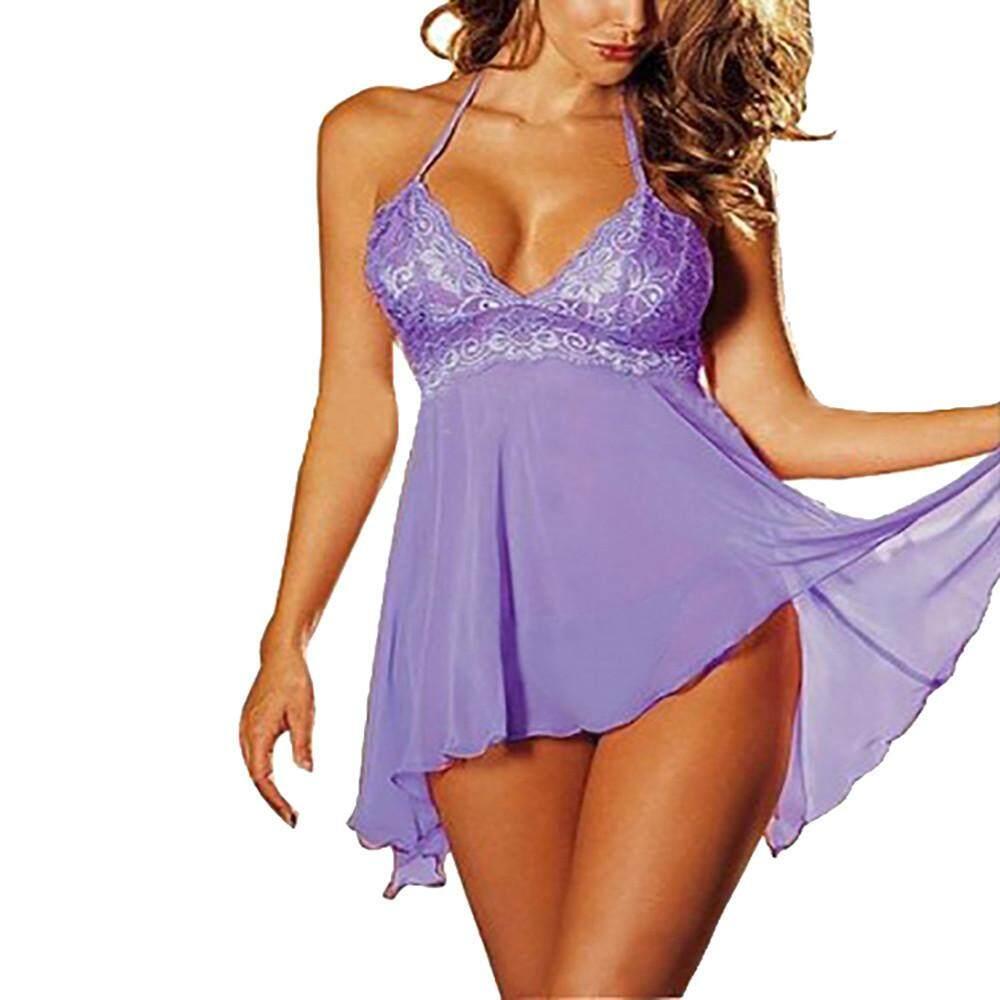 50b55bcdd0 Genmoment 2 Pcs set Super Sexy Women s Lingerie Lace Dress Underwear  Temptation Plus Size