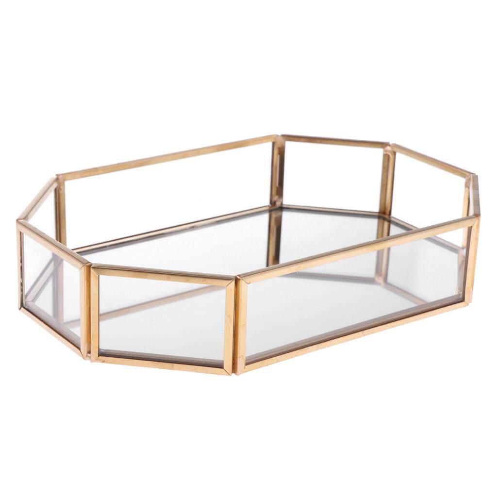BolehDeals Geometric Jewelry Box Makeup Organizer Terrarium Plant Succulent Planter