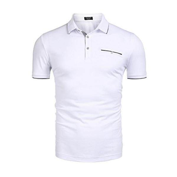 Ouyilu Mens Polo Shirt With Big & Tall Short Sleeve Active Performance - intl