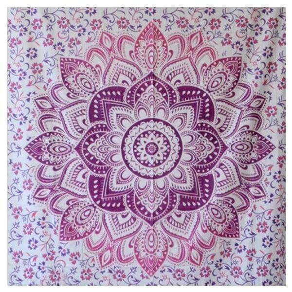 Vintage Wall Hanging Tapestries Blanket Towels Sunscreen Shawls Bedspread Dorm Decor(Pink) - intl