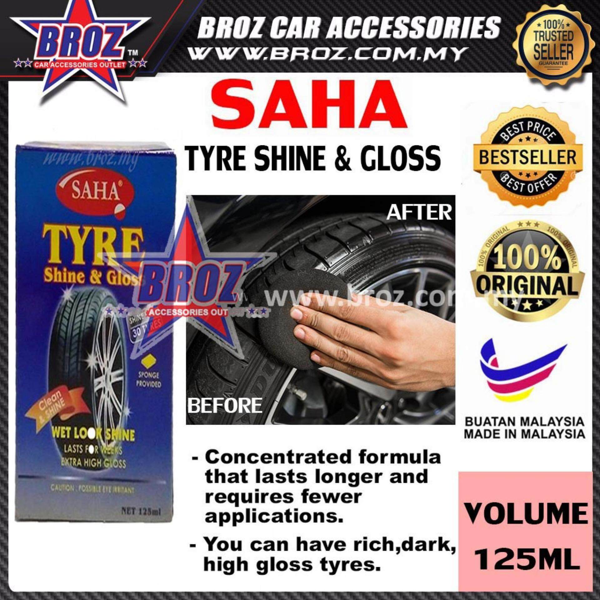 Broz SAHA Tyre Shine And Gloss Wet Look Shine 125ML