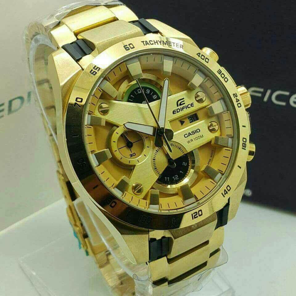 Mega Brand Sale (CASIO EDIFICE YELLOW GOLDLimited Time Promotion)
