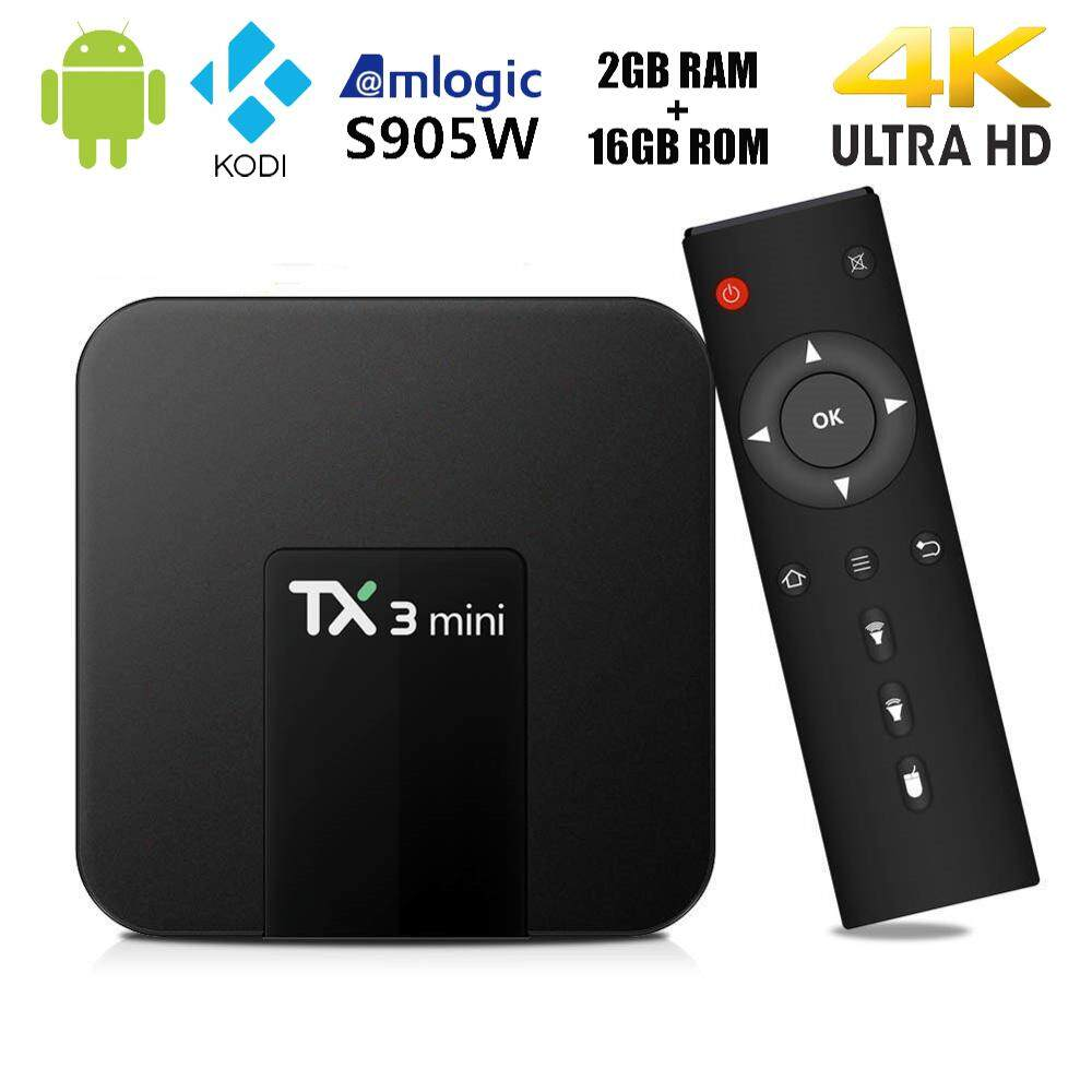 TX3 mini Android 7.1 Smart BOX 1/2GB RAM 8/16GB ROM Amlogic S905W Quad Core Set-top box KD 17.3 H.265 4K WiFi Streaming media player Malaysia plug