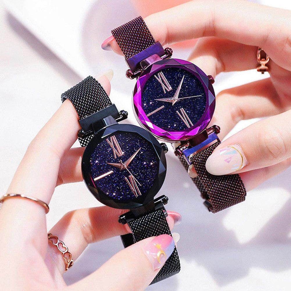 Ytri-Dazzling Starry Sky Quartz Watch Fashion Stainless Steel Mesh Belt  Magnetic Clasp Ladies Watches 0ef71e7e32