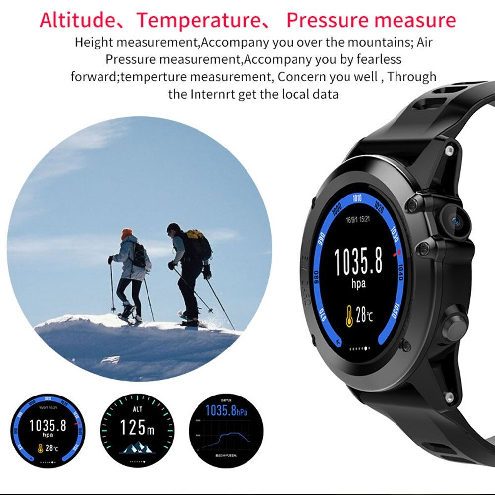 Microwear H1 3G Smartwatch Phone 1.39 inch Android 4.4 MTK6572 Dual Core 1.2GHz 4GB ROM IP68 Waterproof 2.0MP Camera Pedometer