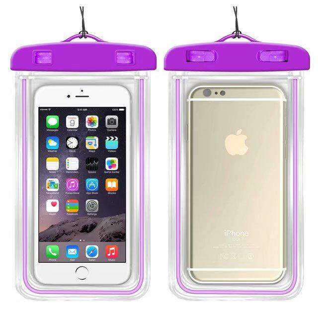 Universal Waterproof Phone Bags For Alcatel U5 3G Soft Clear Pouch Case Sport Diving(Suitable for 6 inches below) - intl