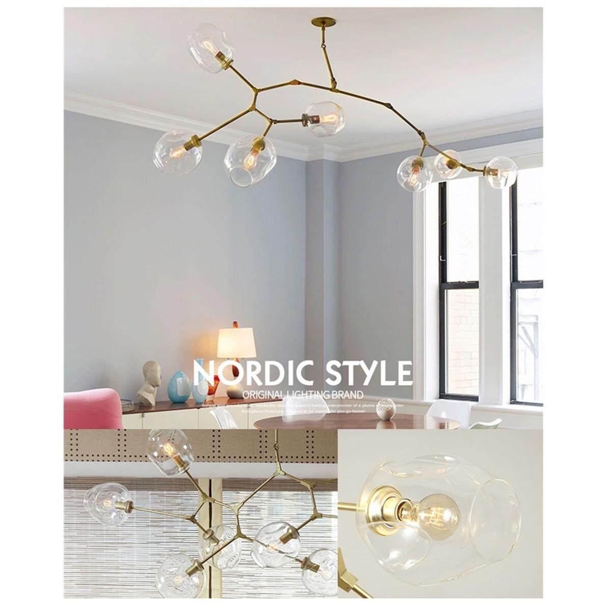Lindsey Adelman Molecular Light Glass Chandelier Suspension Hanging Pendant Lamp #5 light