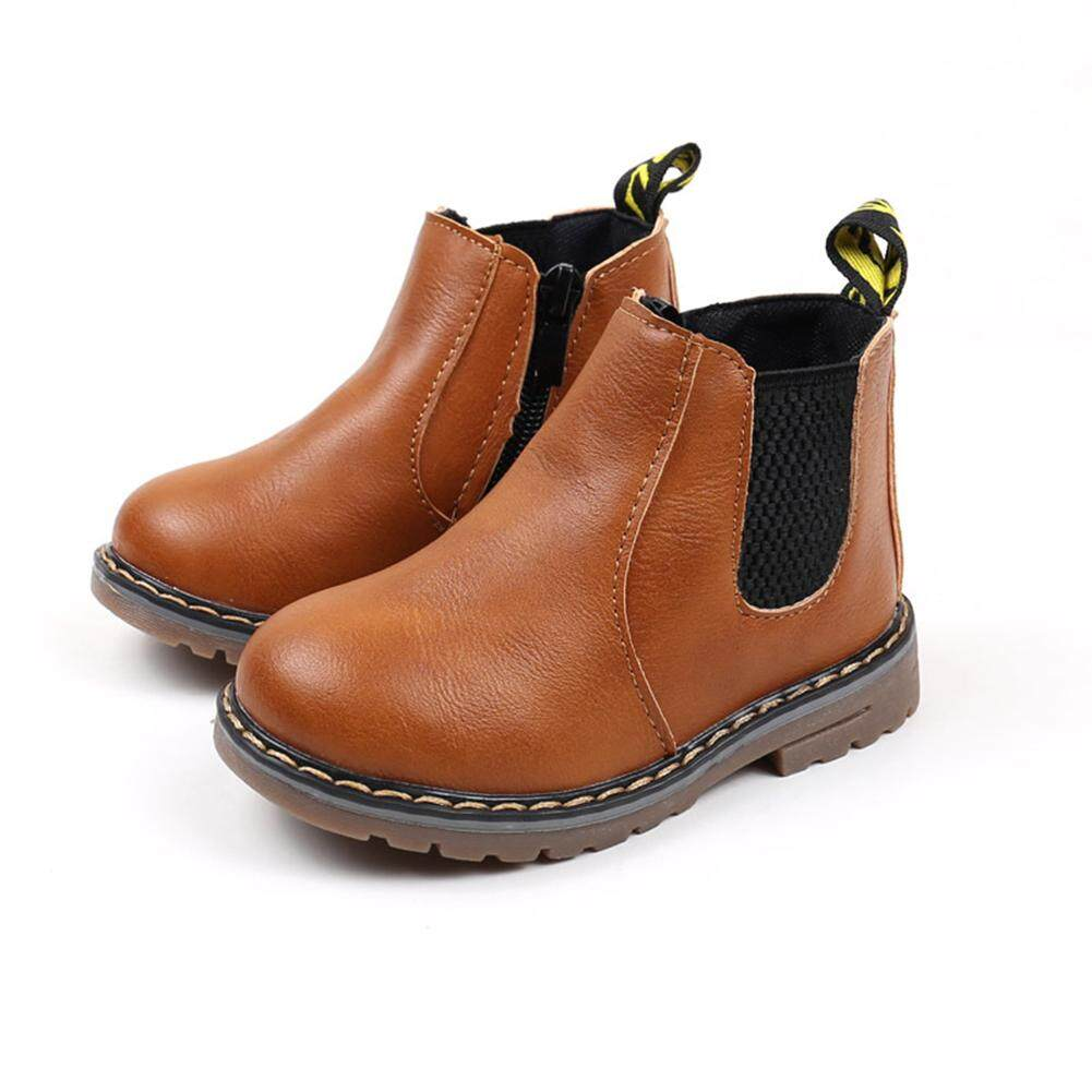 HiQueen Thu Đông Không Trơn Trượt Cho Bé Giày Martain Giày Ống Thấp Giày Trẻ Em Giày Ủng