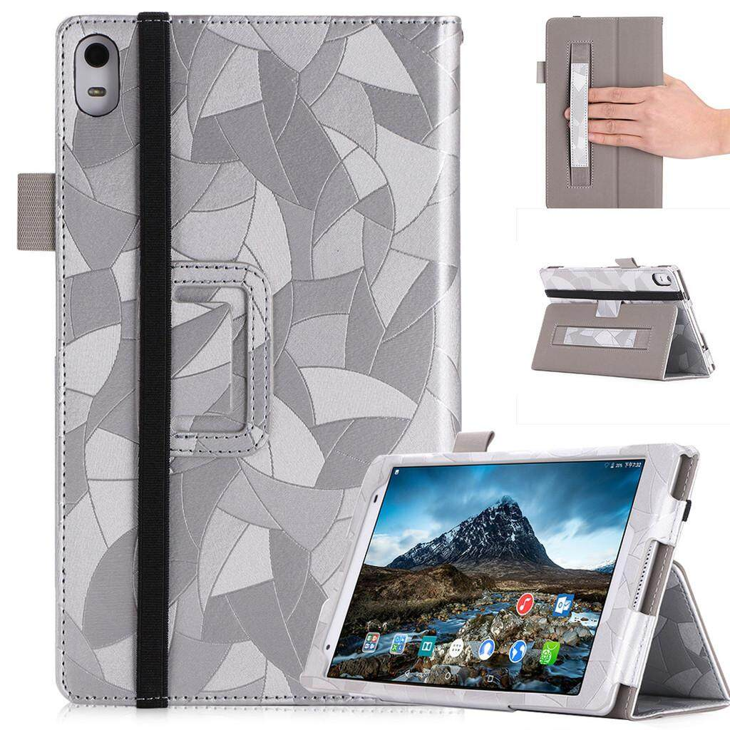 Casing Lenovo Tab 4 8 Plus Case for Lenovo TB-8704F TB-8704N TB-8704X 8.0-inchs Tablet Protective Cover PU Leather Shell Hand Strap with Stand Function, Stylus Holder and Lanyard - intl