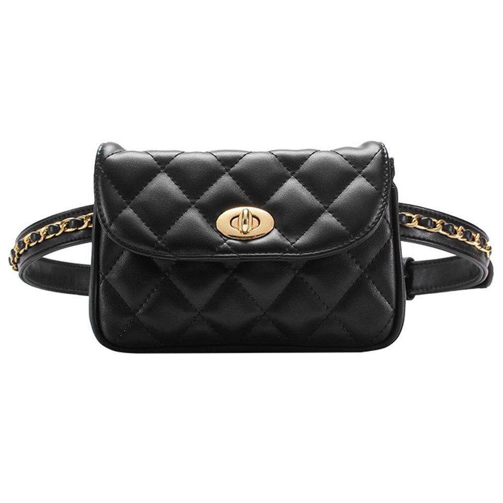 6963059a40 Carcool Fashion Rhombus Plaids Women Waist Bag with Adjustable Waist Strap    Hasp (Large)